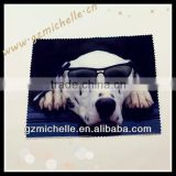 MIC4083 microfiber pets logo black cleaning cloth for Eyeglass Phone Ipad Jewelry Metal Violin