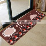 The New Design Coffee Cooking Theme Loop Pile Polyester Printing Kitchen Door Floor Mat Rug Carpet