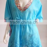 ladies' embroidery beach caftan beach tunic