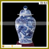 Chinese blue &white traditional and antique handmade bottle jars ceramic ginger jars
