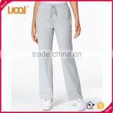 Custom china manufacturer eco-friendly blank loose casual cotton jogging pants for women