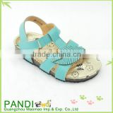 Latest fashion durable PU leather summer beautiful girls sandals