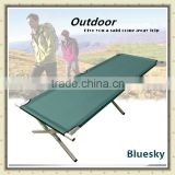 half iron and half aluminium frame folding camping bed BS-266