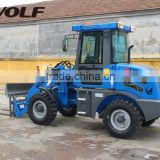 Modern farming tools small wheel loader with attachments for various work