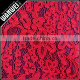 Fahion high quality african guipure lace design red knitting guipure lace fabric for Party dress evening dress and more 2011