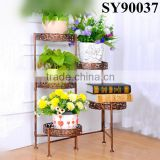 Home decorative tall iron wall flower stand