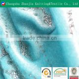 China manufacturer polyester shiny bronze sequin fabric panne velvet ZJ012