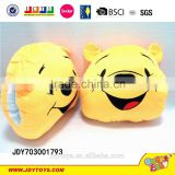 New design 13 inches carton bear plush handwarmer ,Wholesale carton animal plush pillow handwarmer