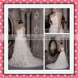 2012 New Arrival Fashionable One-shoulder Puff Winter Dress Ball Gown Wedding Dress Bridal Gown XYY-005