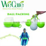 Promotional Plastic ball raincoat/rain poncho