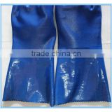 Execellent quality warm liner alkali resistant PVC industrial gloves