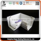 Inside Corner 90 Degree Rain Gutter, White Color Rain Downspout For Roof Drainage System