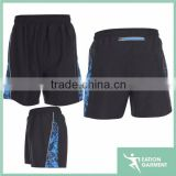 black side printed fabric soccer sports wear shorts basketball jersey
