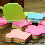 Promotional custom full colorful funny shaped paper mood sticky note pad / mini memo pad