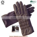 2015 Newest Fashion Dress Nylon/Eiderdown Elastic Tachscreen Gloves for Ladies/Women