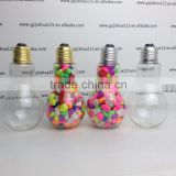 Wholesale Price Plastic Spice Container Metal lid 100ml,150ml & 200ml Light Bulb Jars