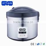good looking best quality 1.8l stainless steel rice cooker with steam tray