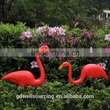 "Plastic watermelon red flamingo garden yard and lawn art ornament wedding ceremony decoration with 31"" height"