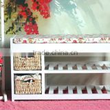2 China manufacturing ~ pastoral solid wood furniture - Cushion - stool - change a shoe stool bed tail stool - shoe rack - Bench