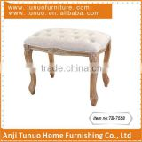 living room /bedroom/dressingroom Single seat drawing rubber wooden bench
