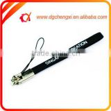 Custom Printing Logo Black Leather Phone Hand Strap