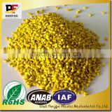 Color masterbatch Manufacturer, high quality PP/PE yellow masterbatch used for bottles, bags, toys, househould