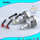 DC12V-24V H1 H7 H8 H9 H11 9005 9006 led car light good quality super high power lancer headlight