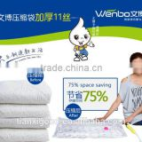vacuum seal jumbo plastic cube bags storing bedding and clothing\compressed\bedding organizer