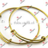 Fashionable Antique gold Expandable /Adjustable Hook Wire Bracelets Bangles With Charms (WBG51222 )