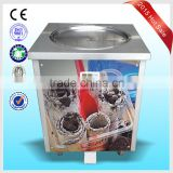 DHL air express to door worlwide frozen yogurt rolls fry ice cream machine with real fruits
