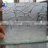 Decorative glass suppliers in China ground figured glass at the best price