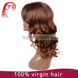 Wholesale hot selling 180% density full lace wig,natural color fashionable synthetic hair wig