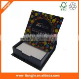 High quality blank paper memo pads in hard case/holder