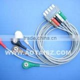 5 Lead Patient Monitor Ecg Cable