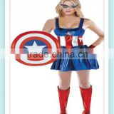 Captain America Sassy Deluxe Adult Costume Women's Captain America costume Sexy carnival costume