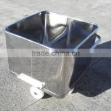Stainless Steel Hopper Trolley for Meat Processing