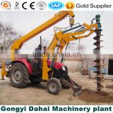 ISO approved 100HP tractor drilling rig with crane for pole hole drilling in Power facilities