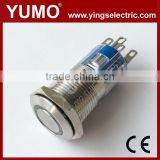 Hot sale ABS16S-P11-E 8mm 12mm 16mm 19mm 22mm 25mm IP67 Momentary 3-250VDC/AC metal push button lift push button