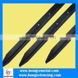 New Zealand Market High Quality Steel Black Bitumen Painted Black Y Fence Post Steel Fence Post