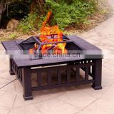 Outdoor Metal Backyard Patio Garden Square Stove Fire Pit