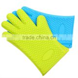 Wholesale custom FDA food grade kitchen cooking grill silicone heat resistant silicone bbq gloves