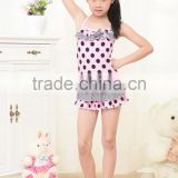 Factory price light pink black dots children's swimwear kids swinwear a little baby swimwear /kids bikini