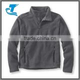 Custom mens stylish half zip fleece pullover
