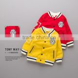 S16363A children coats hot sale baby boys and girls baseball jacket