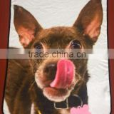 Custom 3D Photo Printed Fleece Throw Carpet Blanket For Dogs