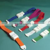 car safety belt with plastic buckle