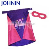 Factory supply super hero cape and mask costumes for kids