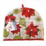 Christmas Flower Pattern Tea Cosy Heat Preservation Tea Pot Cover