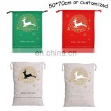 New design wholesale canvas christmas santa sack for free sample