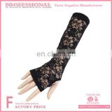 Long Embroidered Fingerless Lace Wedding Gloves